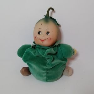 Small small world vtg lime doll toy collectible